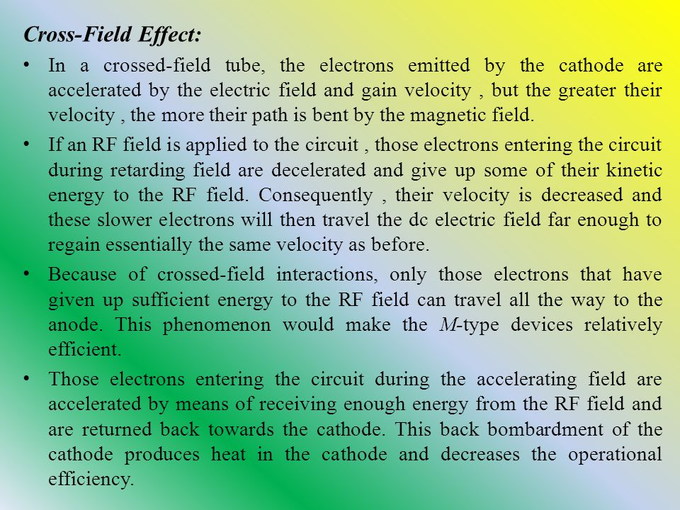 Cross-Field Effect: