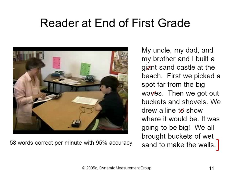 Reader at End of First Grade