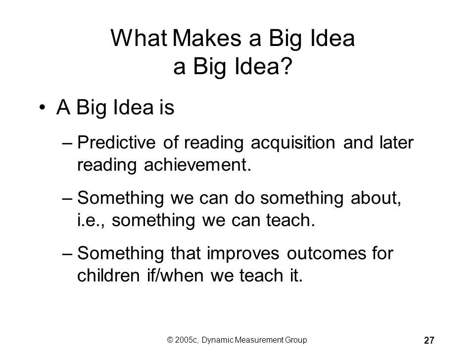 What Makes a Big Idea a Big Idea