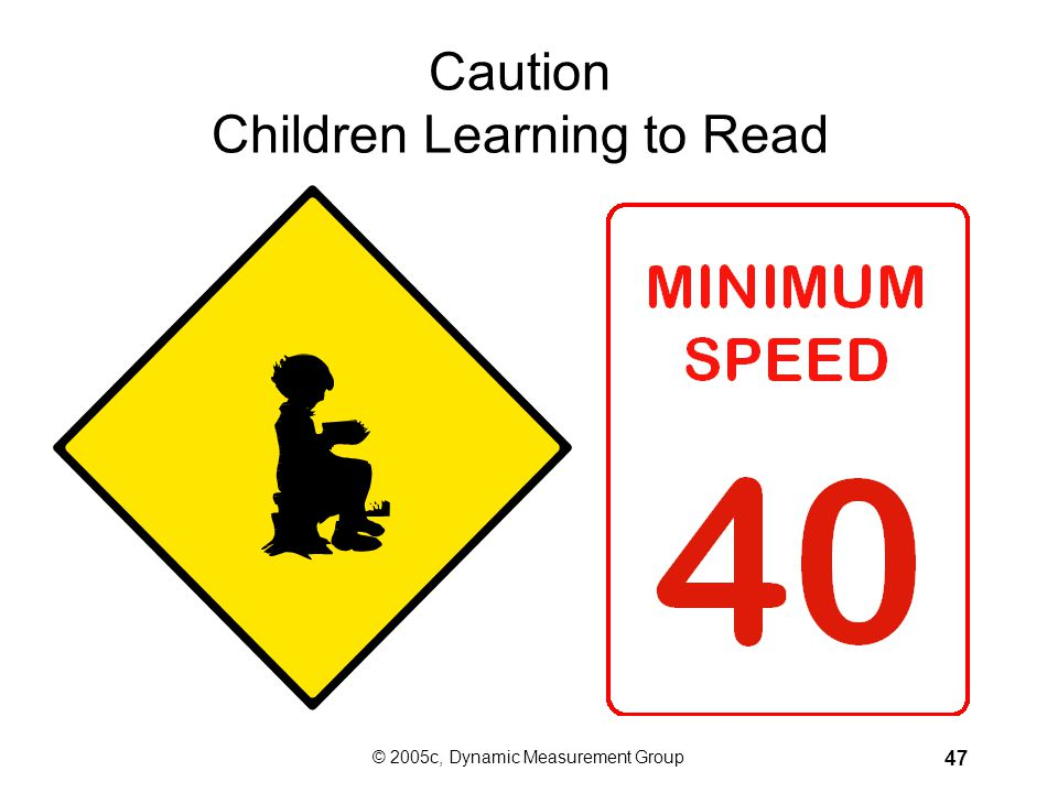 Caution Children Learning to Read