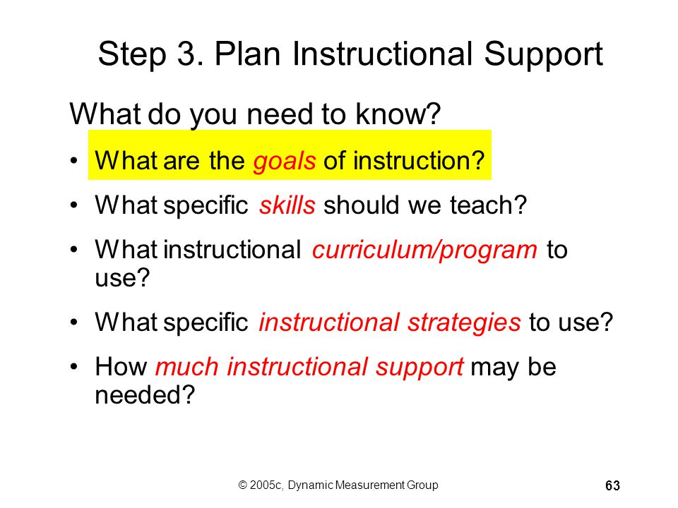 Step 3. Plan Instructional Support