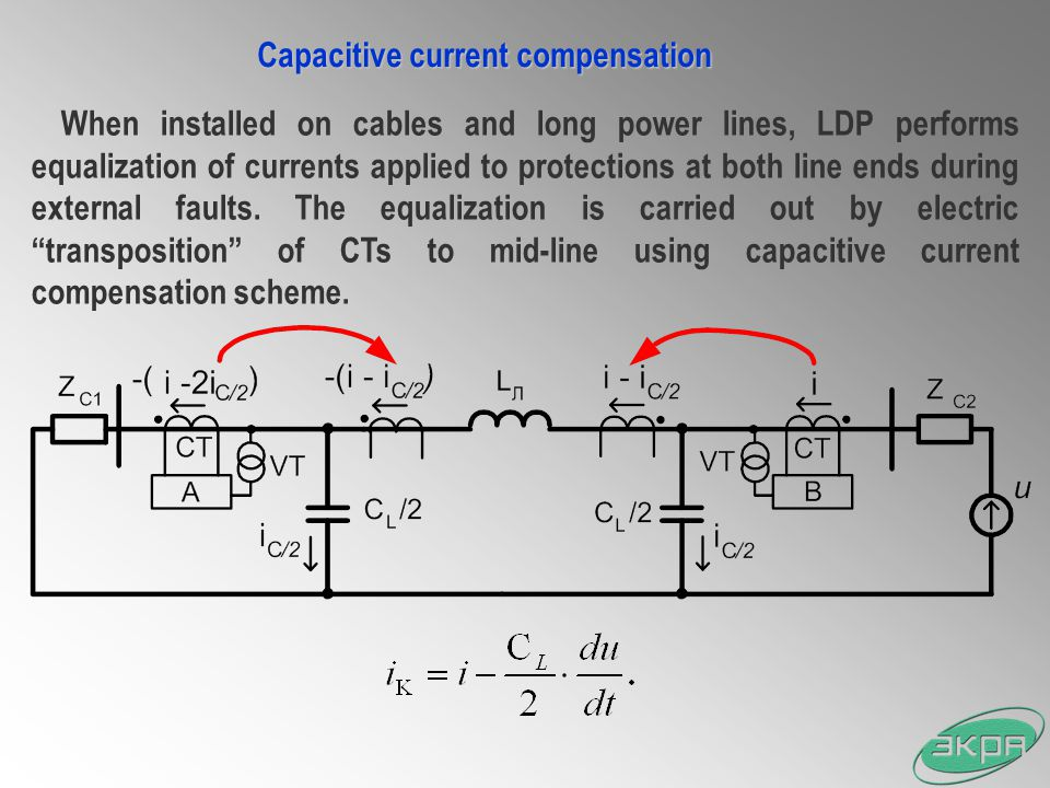 Capacitive current compensation