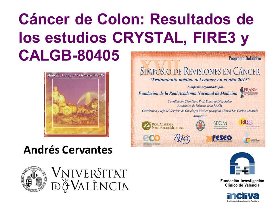 Cáncer de Colon: Resultados de los estudios CRYSTAL, FIRE3 y CALGB-80405
