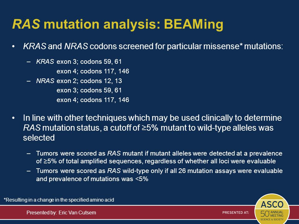 RAS mutation analysis: BEAMing