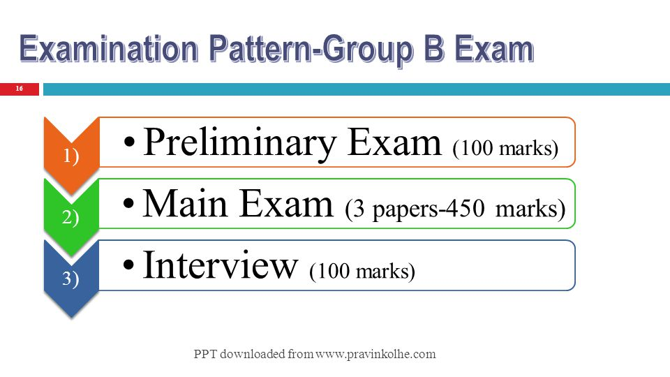 Preliminary Exam (100 marks)