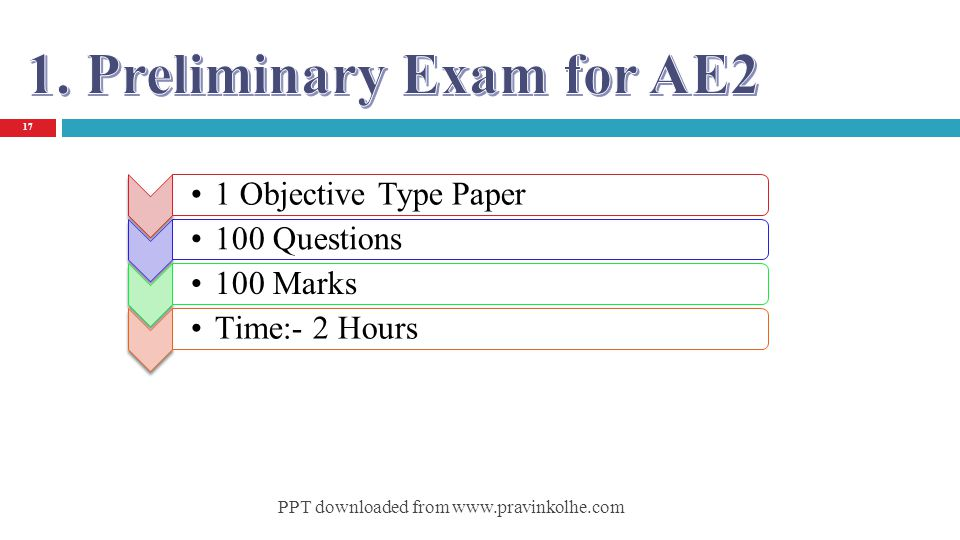 1. Preliminary Exam for AE2