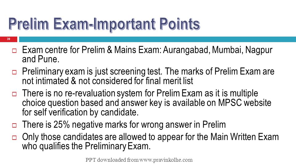 Prelim Exam-Important Points