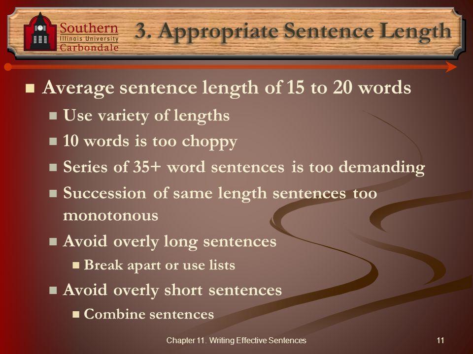 3. Appropriate Sentence Length