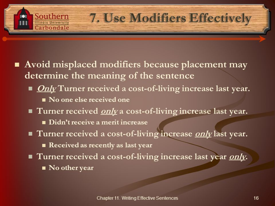 7. Use Modifiers Effectively