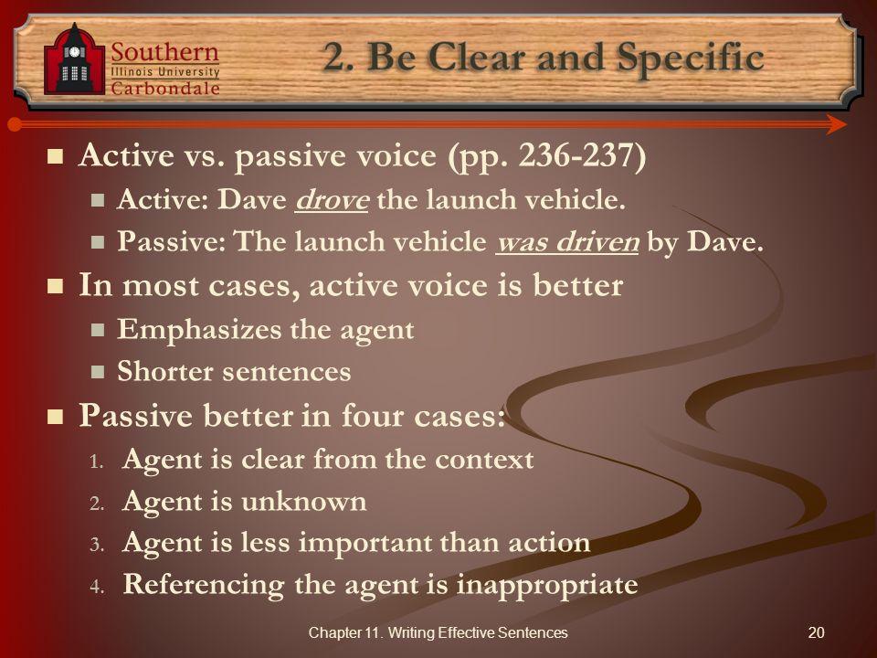 Chapter 11. Writing Effective Sentences