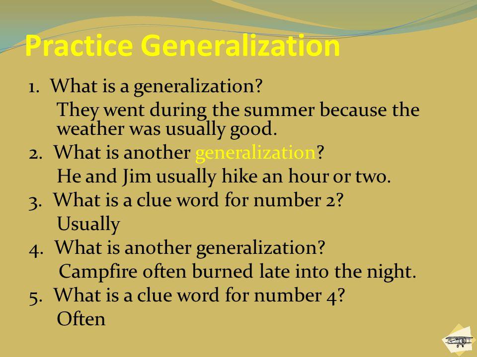Practice Generalization
