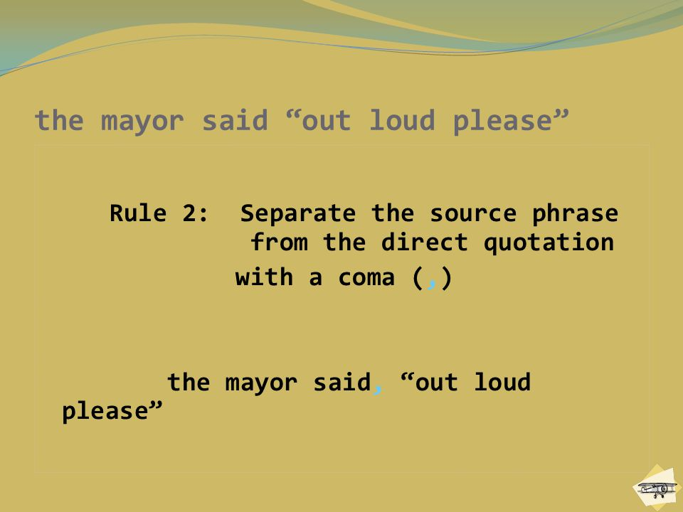 the mayor said out loud please