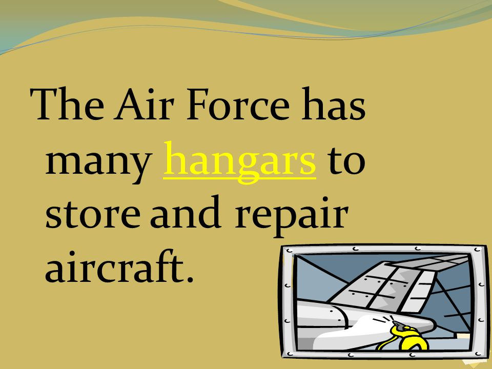The Air Force has many hangars to store and repair aircraft.