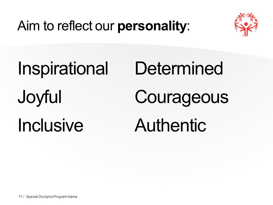 Aim to reflect our personality: