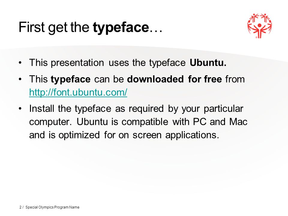 First get the typeface…