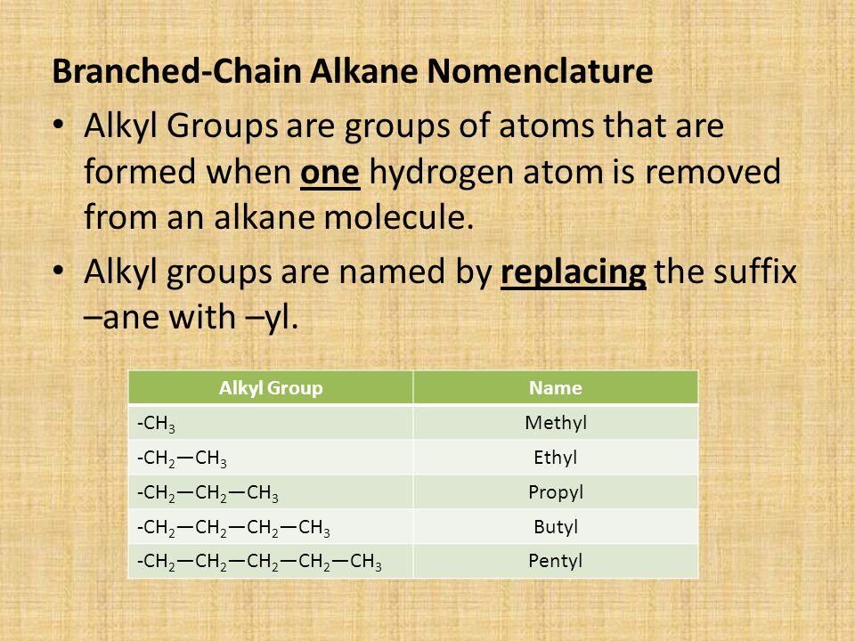 Branched-Chain Alkane Nomenclature