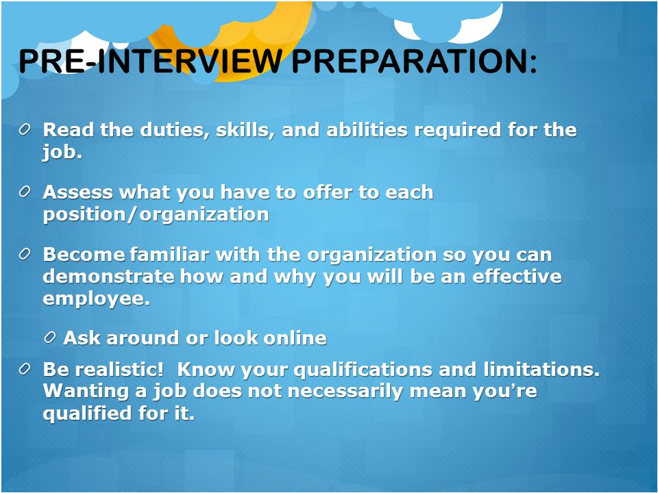 tips for a positive interview experience