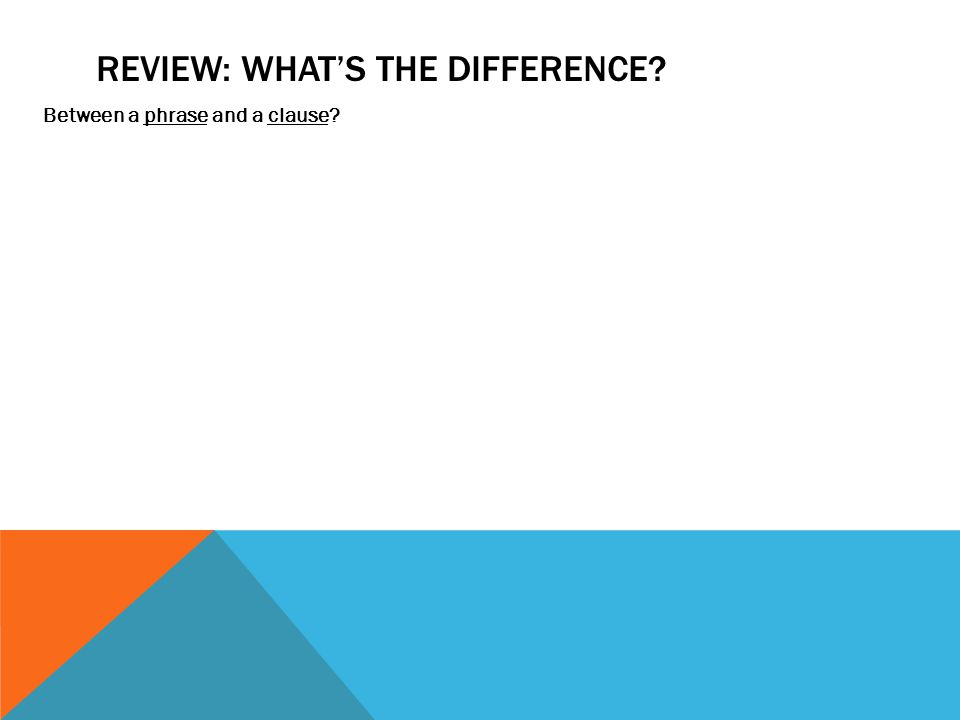 REVIEw: What's the difference
