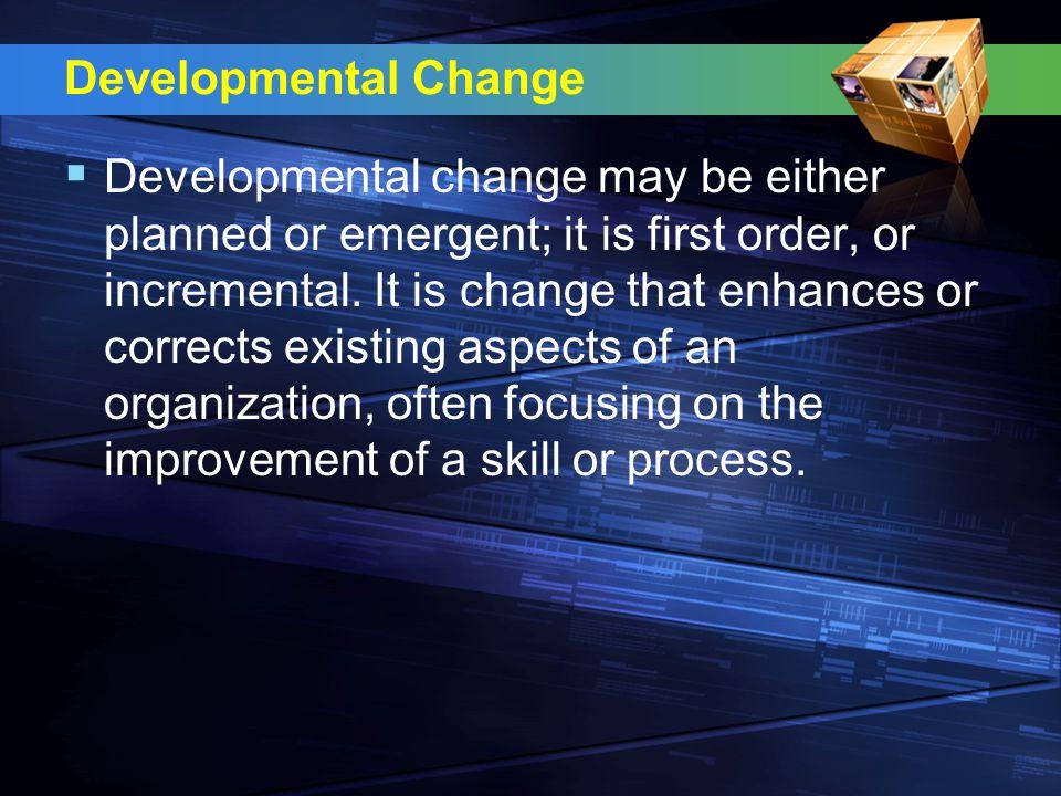 Developmental Change