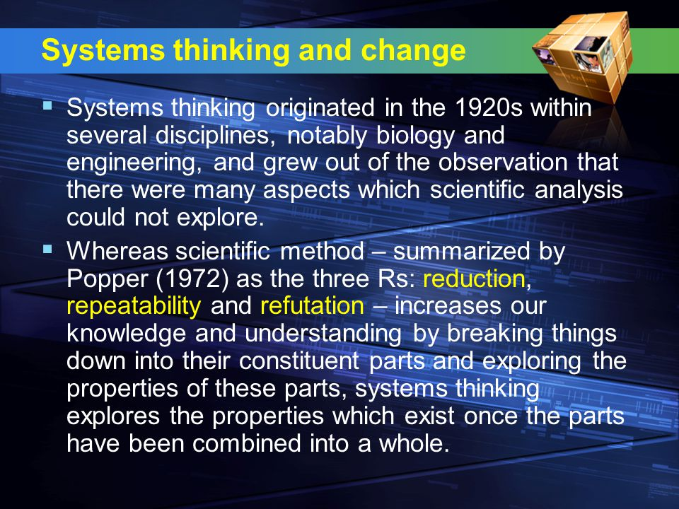 Systems thinking and change