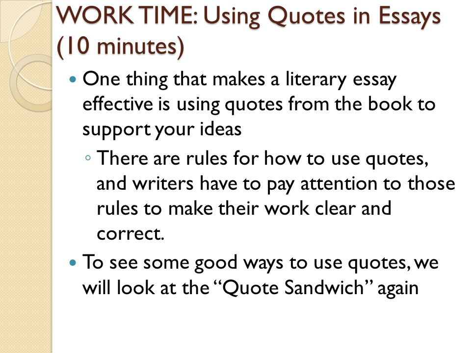 rules of quotations in essays 5 quotes have been tagged as rules-for-writing: jonathan safran foer: 'jonathan safran foer's 10 rules for writing:1tragedies make great literature u.