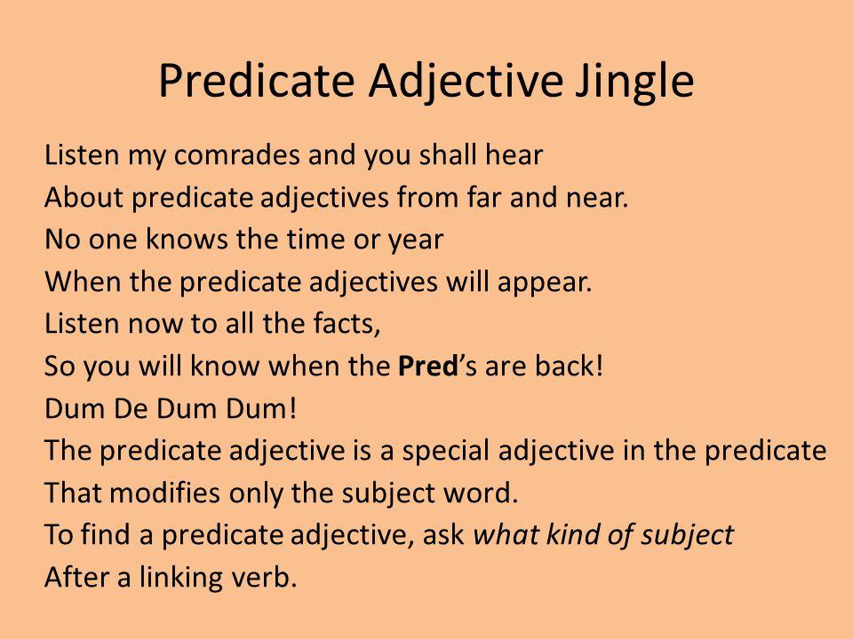 Predicate Adjective Jingle