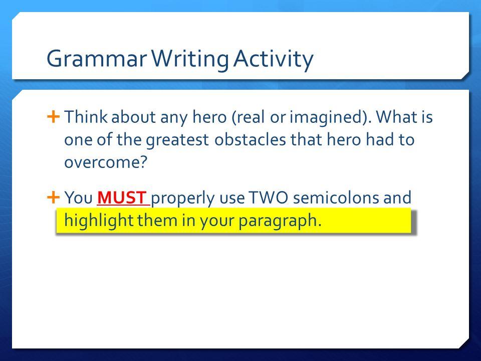 Grammar Writing Activity