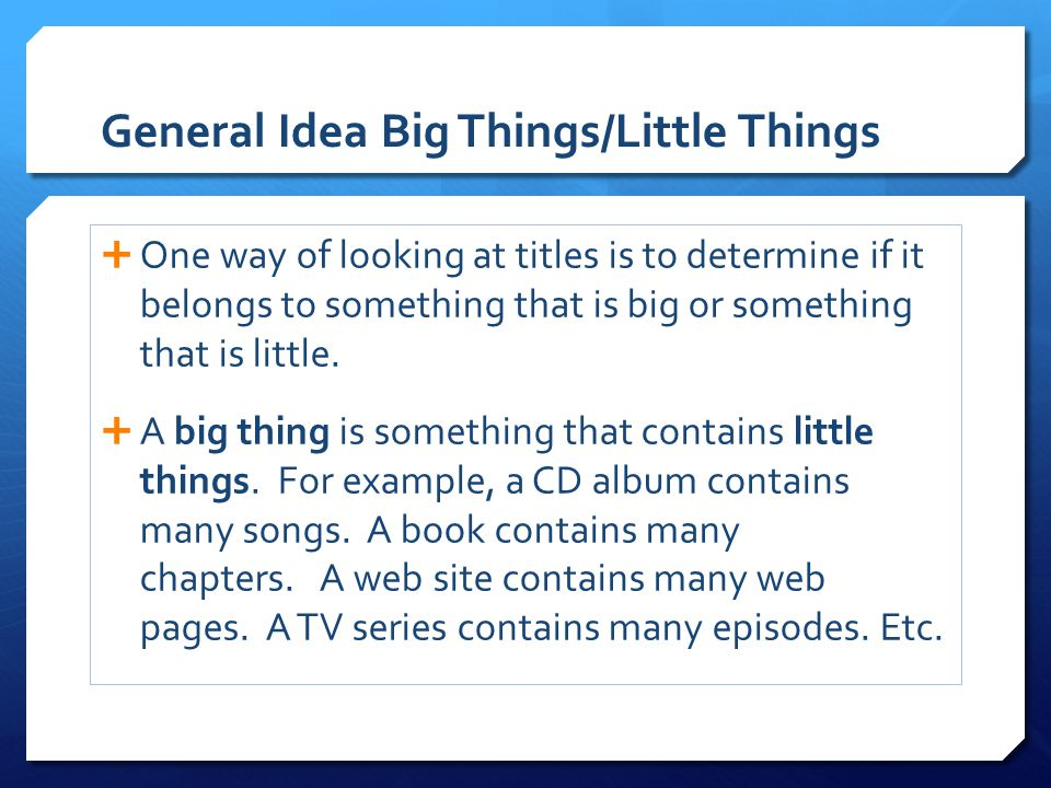 General Idea Big Things/Little Things