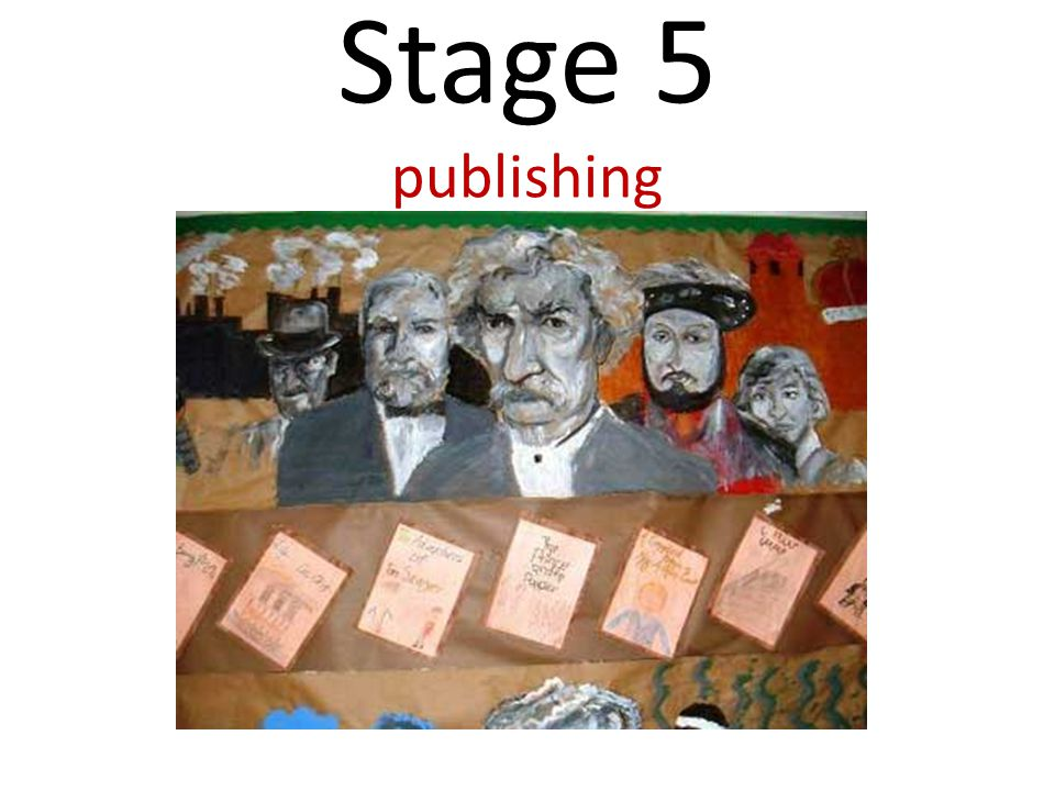 Stage 5 publishing