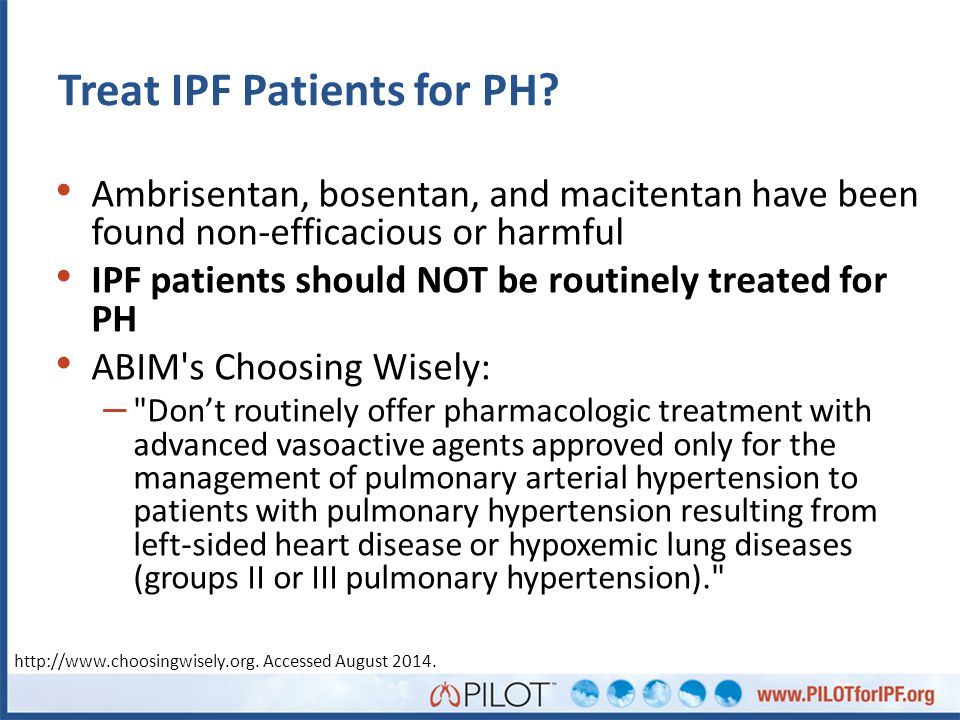 Treat IPF Patients for PH