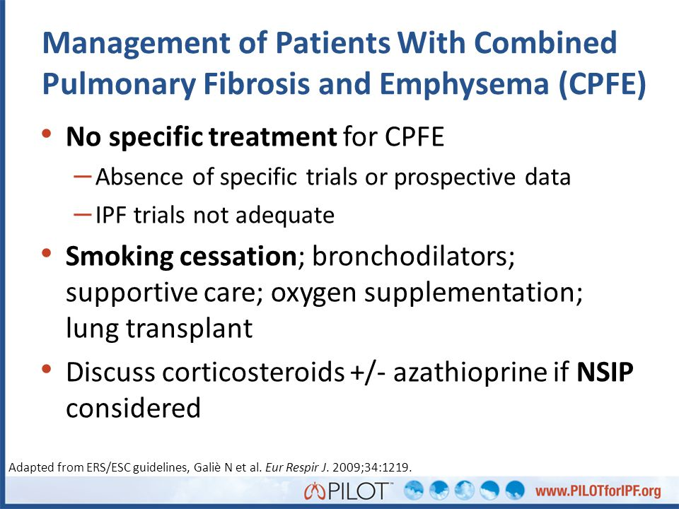 Management of Patients With Combined Pulmonary Fibrosis and Emphysema (CPFE)