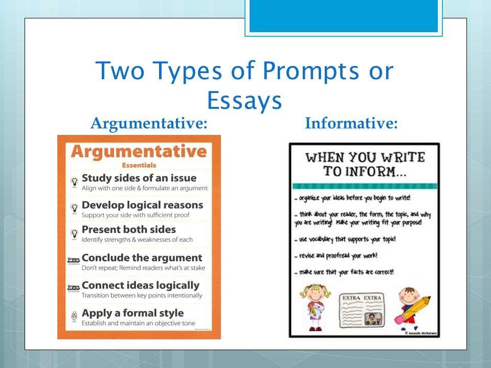 form of argumentative essay