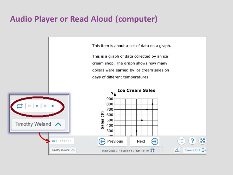 Audio Player or Read Aloud (computer)