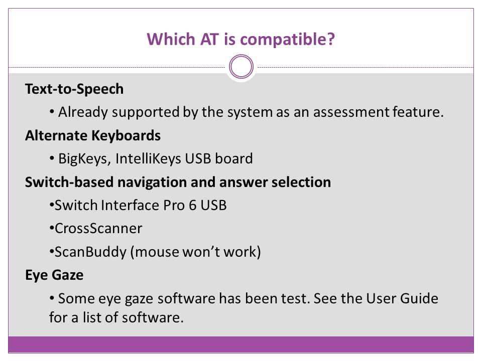 Which AT is compatible Text-to-Speech