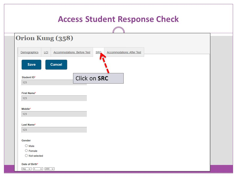 Access Student Response Check