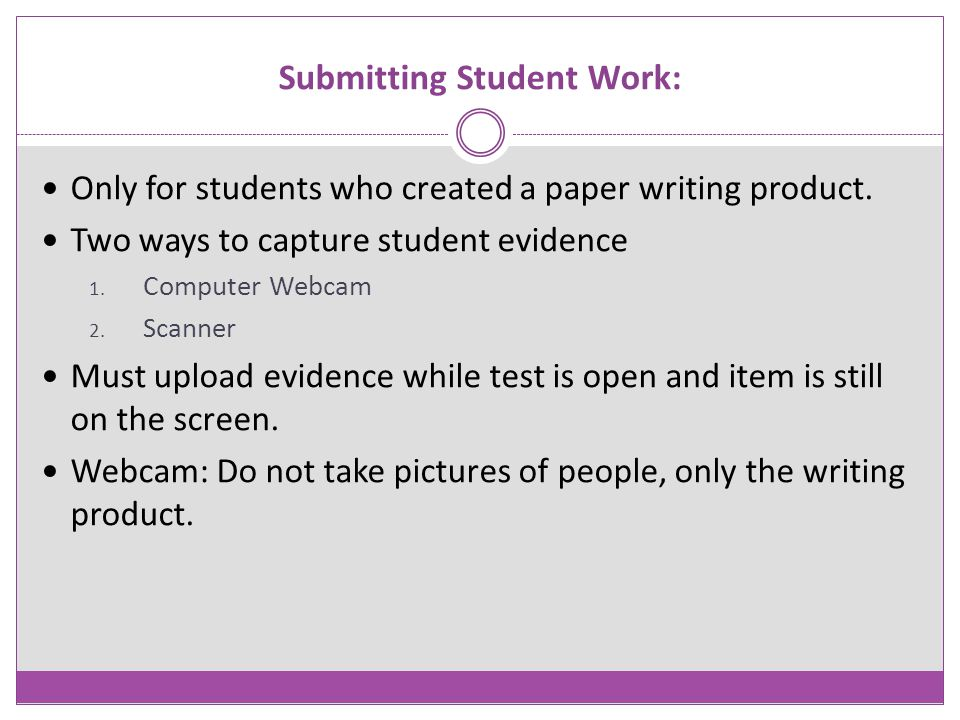 Submitting Student Work:
