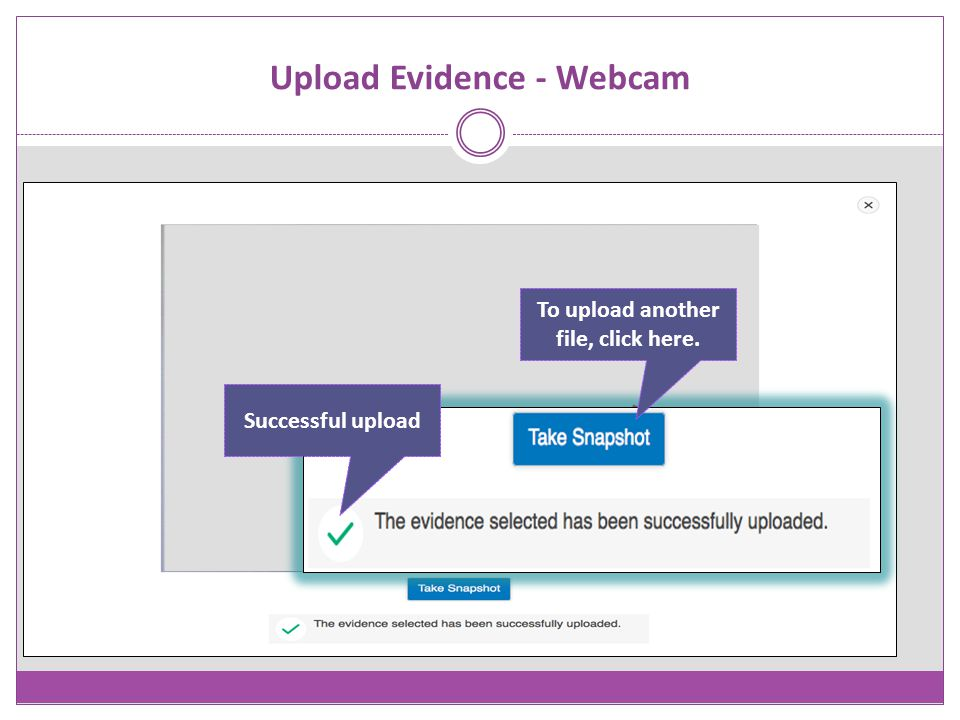 Upload Evidence - Webcam