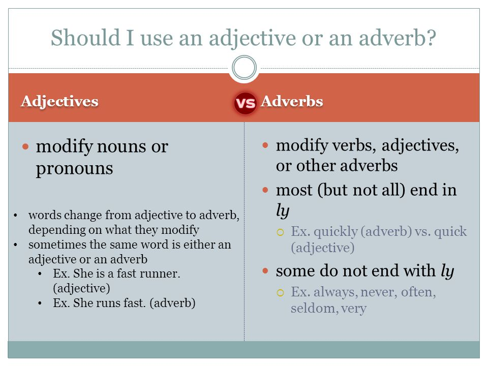 Should I use an adjective or an adverb