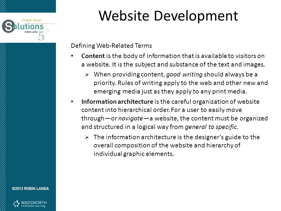 Website Development Defining Web-Related Terms