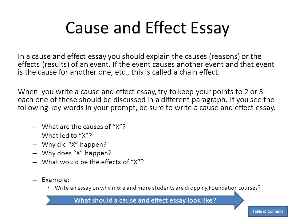 cause effect article introduction