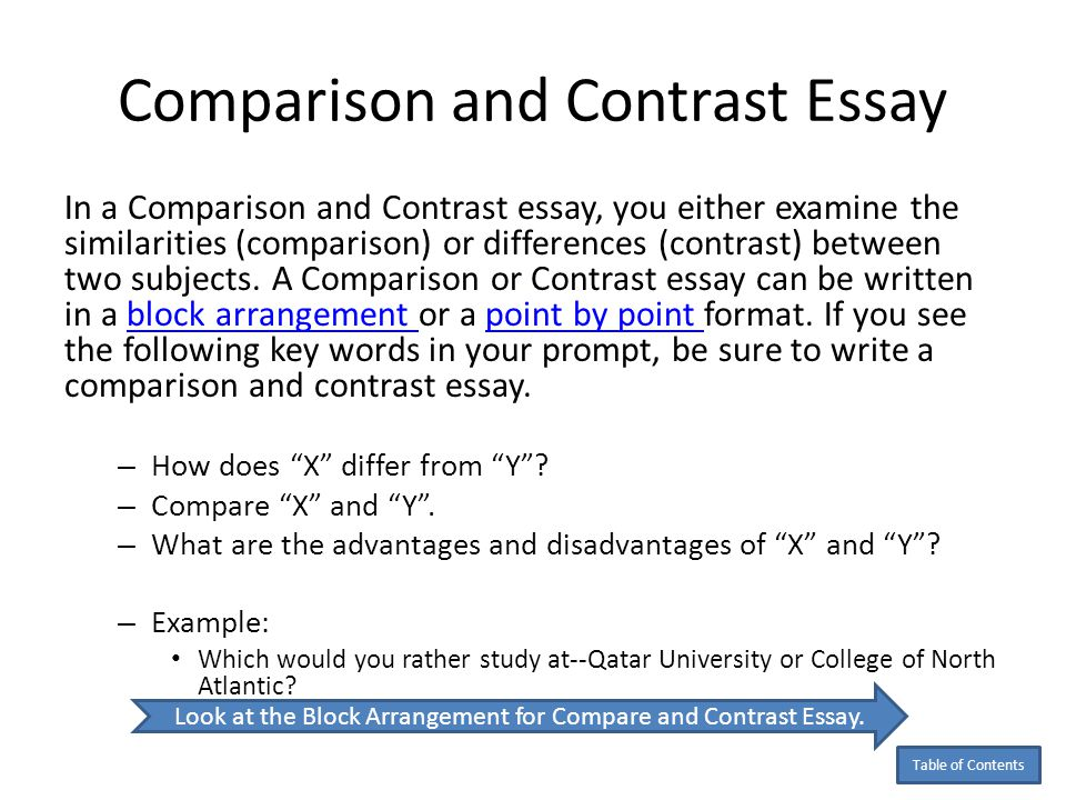 compare texts essay
