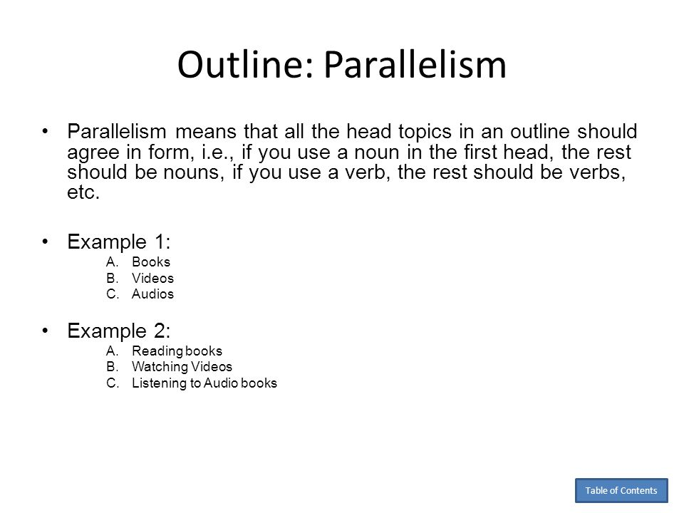 Outline: Parallelism
