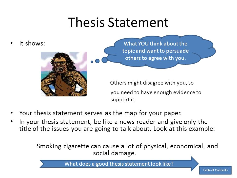 what is a good thesis statement for the book speak