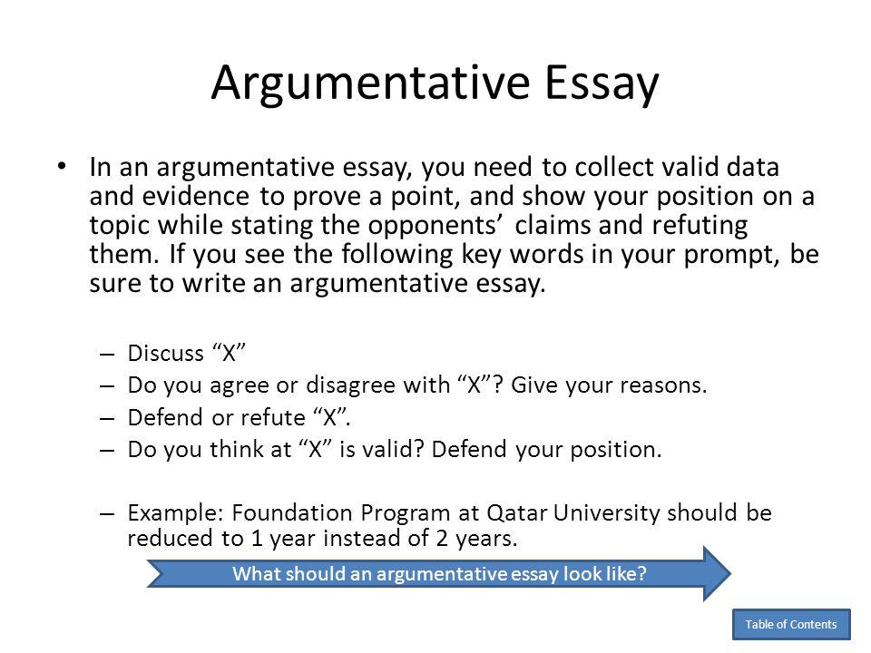 The argumentative essay definition