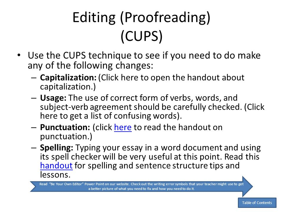 proofread essay lesson
