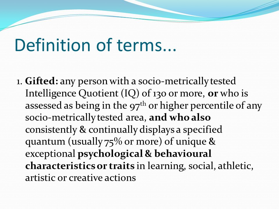 Definition of terms...