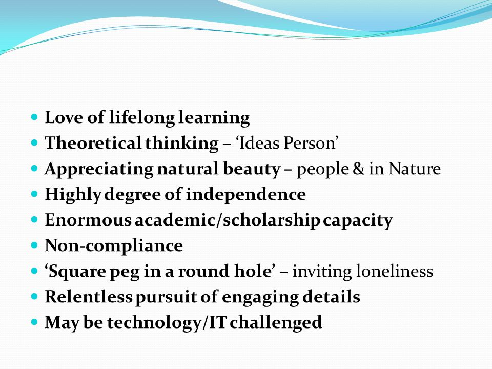 Love of lifelong learning