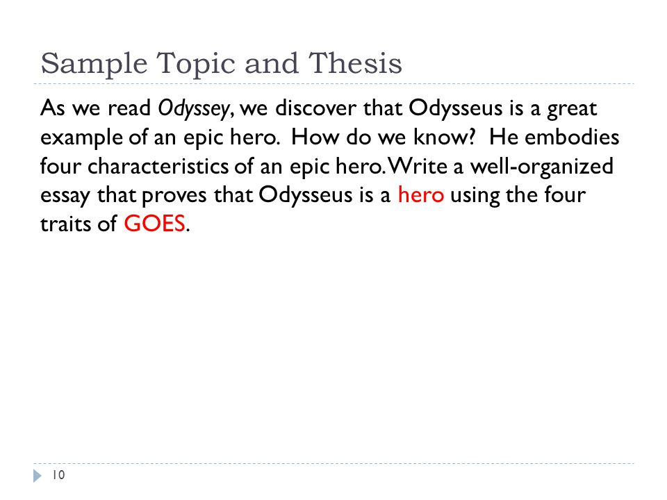 Odysseus is a good leader