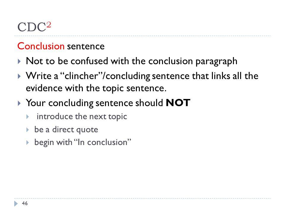CDC2 Conclusion sentence