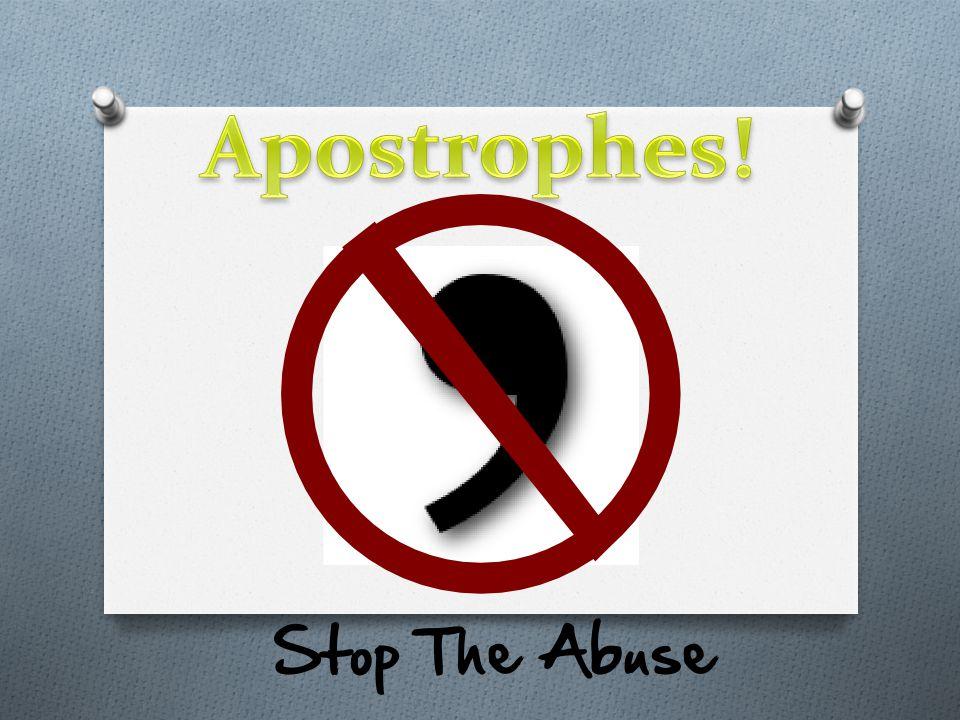 Apostrophes!